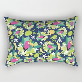 Toucans Everywhere - Blue Rectangular Pillow