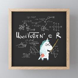 Unicorn = real Framed Mini Art Print