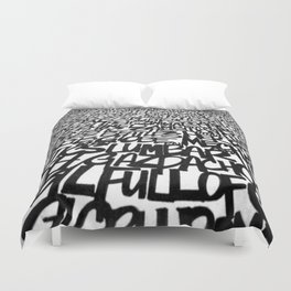Upwords Duvet Cover
