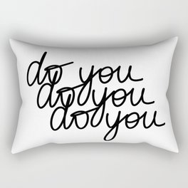 Do You   White Rectangular Pillow