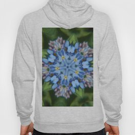 Fluid Nature - Forget Me Not - Abstract Kaleidoscope Hoody