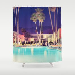 Palm Springs Hotel Shower Curtain