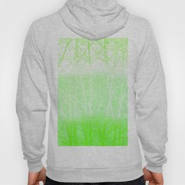 Frosted Winter Branches in Lime Green Hoody
