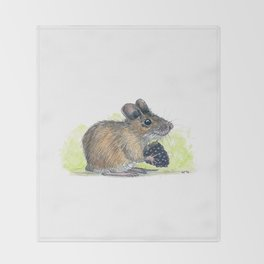 Field Mouse  Throw Blanket