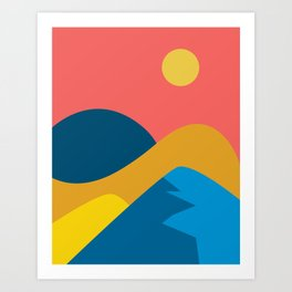 View from the height - Mountains Art Print