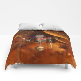 Funny robot Comforters