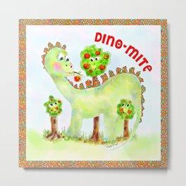 Maxamilian the Dino Metal Print