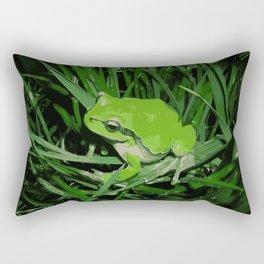 Little green frog Rectangular Pillow