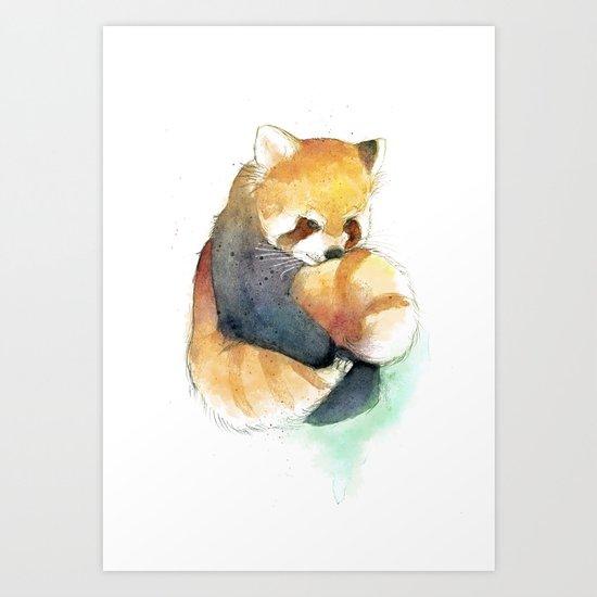 Red Panda-san! Art Print