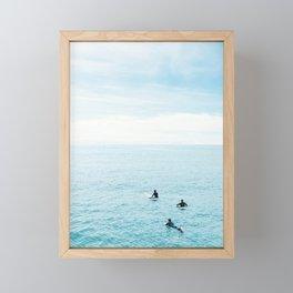 Flat Ocean Framed Mini Art Print