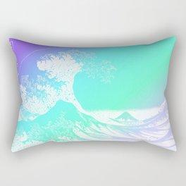 The Great Wave Purple Mint Aqua Rectangular Pillow