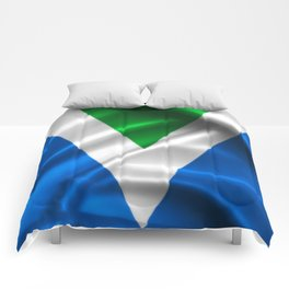 Vegan Flag on soft and shiny clothing Comforters