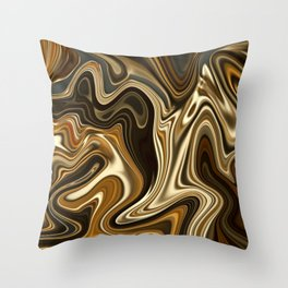Mont Blanc -Gorgeous Marble Style- Throw Pillow