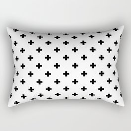 Swiss cross pattern in black Rectangular Pillow