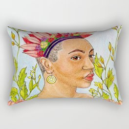Portrait of Queen Calafia Rectangular Pillow