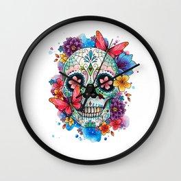 Dia de los Muertos Wall Clock