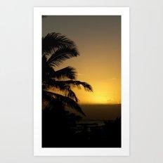 Hawaii Sunset Series E Art Print