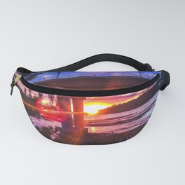 Casco Bay Bridge Sunburst Fanny Pack