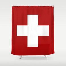 Swiss Cross Shower Curtain