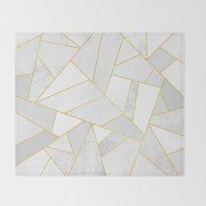 White Stone Throw Blanket