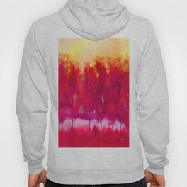 Sunset in Fall Abstract Landscape Hoody
