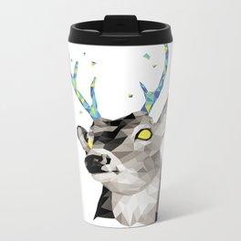 Geosafari   Deer (White) Metal Travel Mug