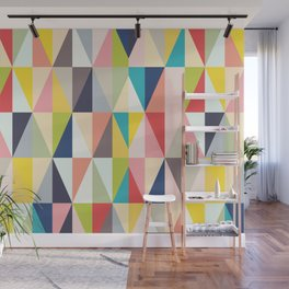 Abstract Geo Diamonds Wall Mural