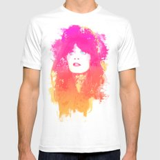Zooey Deschanel Mens Fitted Tee White LARGE