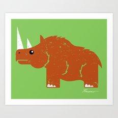 Woolly Rhino Art Print