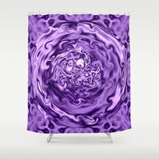 Purple Swirl Topography Shower Curtain