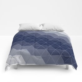 Navy Blue Triangles Comforters