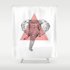 Elephant Head II Shower Curtain