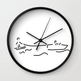 water-ski boat waterski Wall Clock