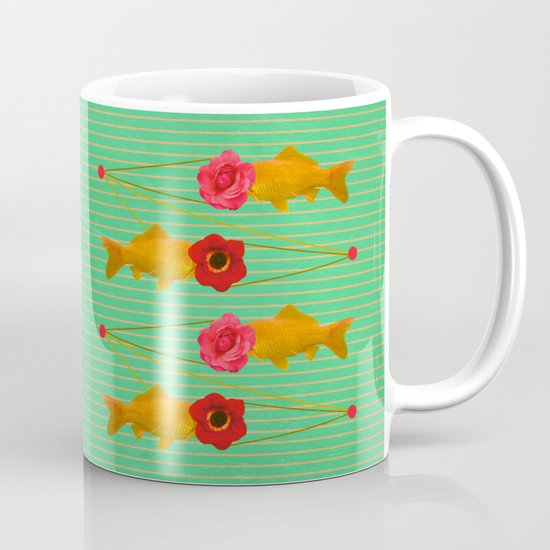 fishes and flowers Mug