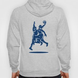 Basketball Player Dunk Block Retro Hoody