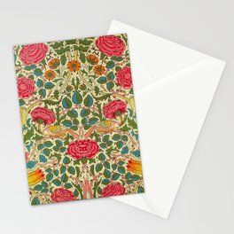 William Morris Roses Floral Textile Pattern Stationery Cards