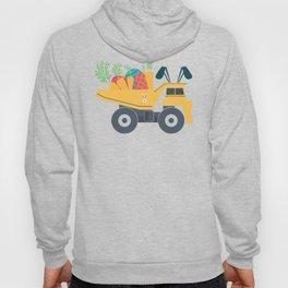 Easter Dump Truck Design With Eggs Carrots Bunny Ears Hoody