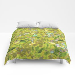 Yellow Wildflower Cluster Hip #1 Comforters
