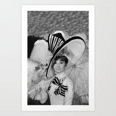 Audrey Hepburn ICONIC ICON BEAUTY SCENE Art Print