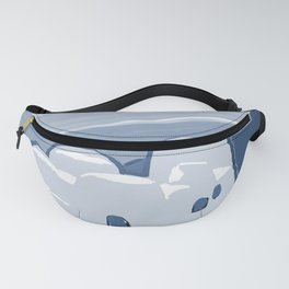 Labyrinth on the Shore, Sketch, Cyanotype Fanny Pack