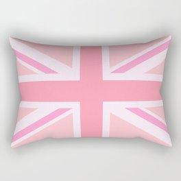 Pink Union Jack/Flag Design Rectangular Pillow