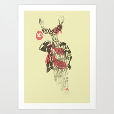 Yo! Deer Music Man Art Print