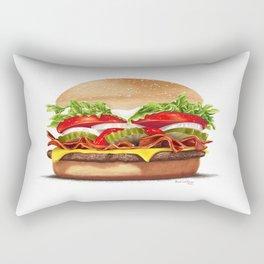 Bacon Cheeseburger by dana alfonso Rectangular Pillow