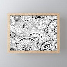 zen pattern in black&white Framed Mini Art Print