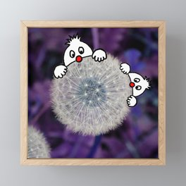 Fly with the dandelion Framed Mini Art Print