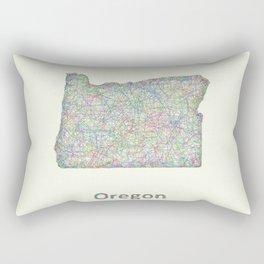 Oregon map Rectangular Pillow