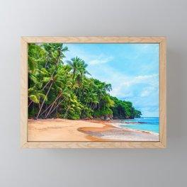 Playa Blanca Framed Mini Art Print