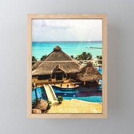 Cancun Ocean view Framed Mini Art Print