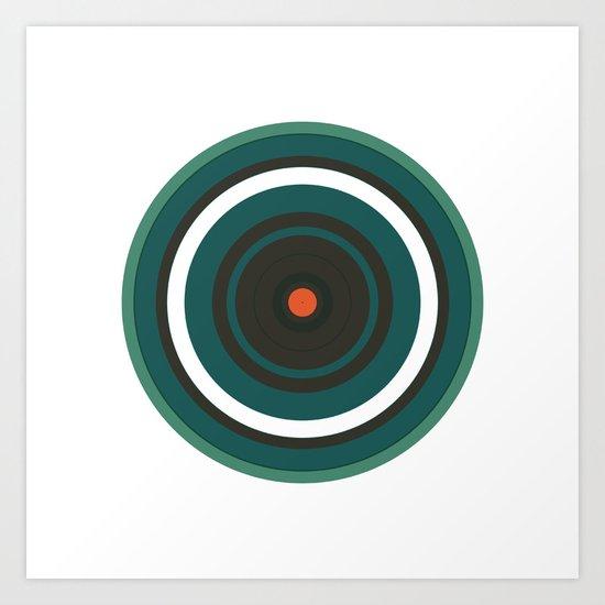 #222 Saturn – Geometry Daily Art Print