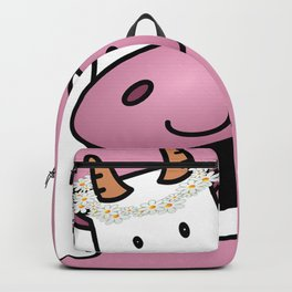 Standing Cow with Daisies Backpack
